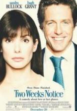 Aşka İki Hafta – Two Weeks Notice 2002 tek part film izle